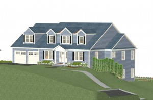 New Construction Front Rendering