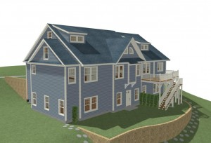 New Construction Rear Rendering