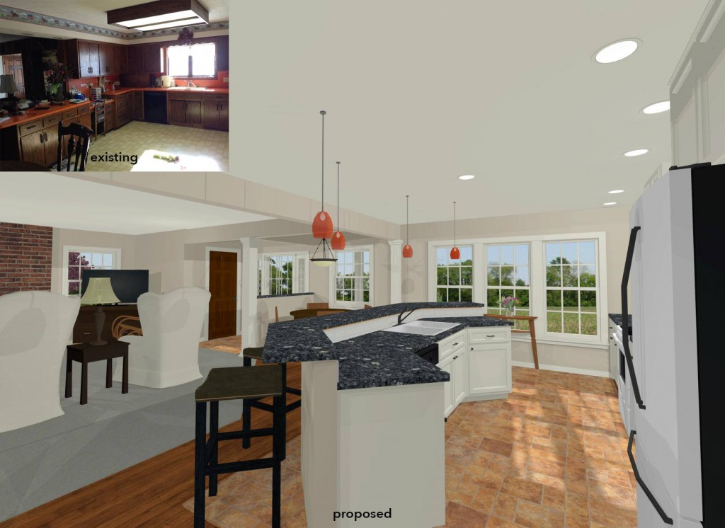 Farmhouse kitchen rendering