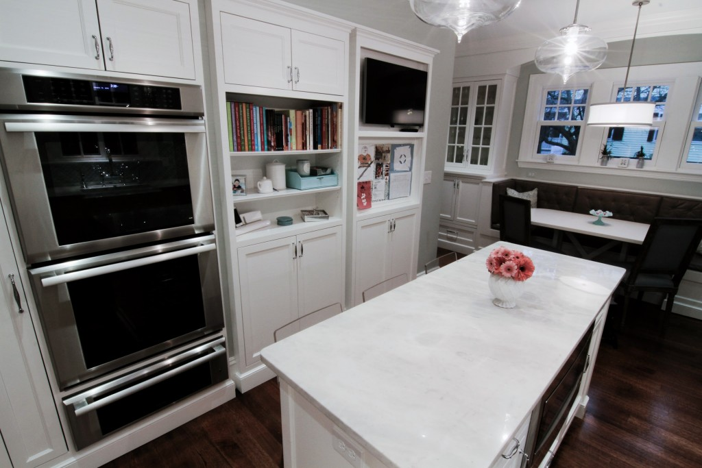 Remodeled kitchen, wall ovens, storage