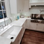 Remodeled kitchen, apron sink, stainless range