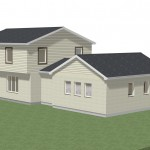 Master Suite addition, exterior