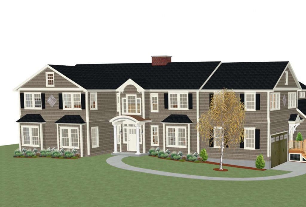 Whole house remodel rendering exterior